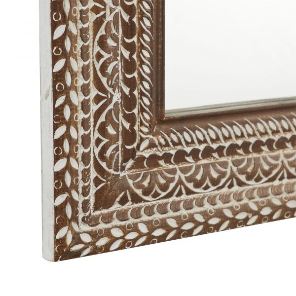 Wood Carved Wall Mirror