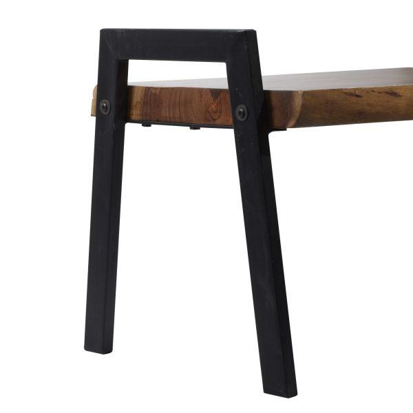 Wood Metal Bench