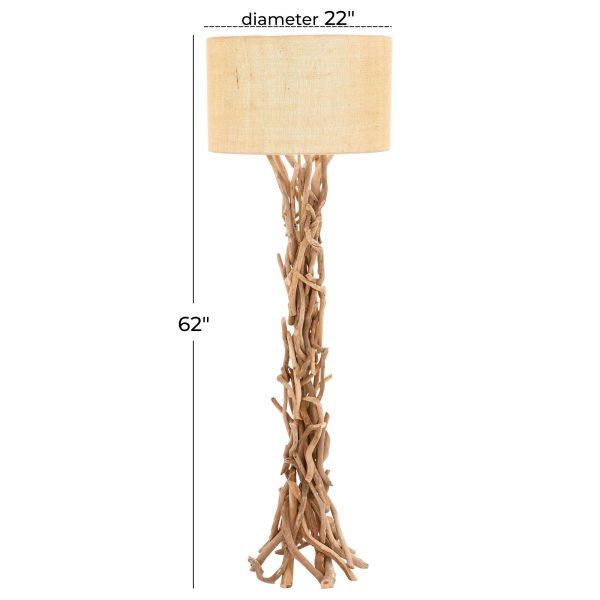 Driftwood Metal Floor Lamp