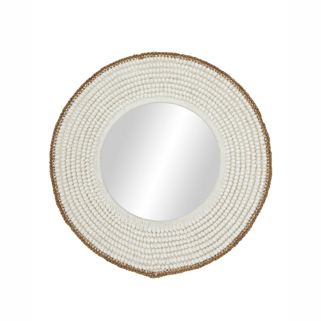 Wood Shell Wall Mirror