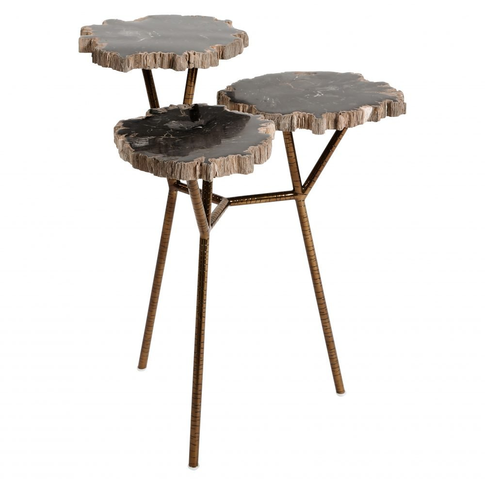 Fossil-Stone-Accent-Table