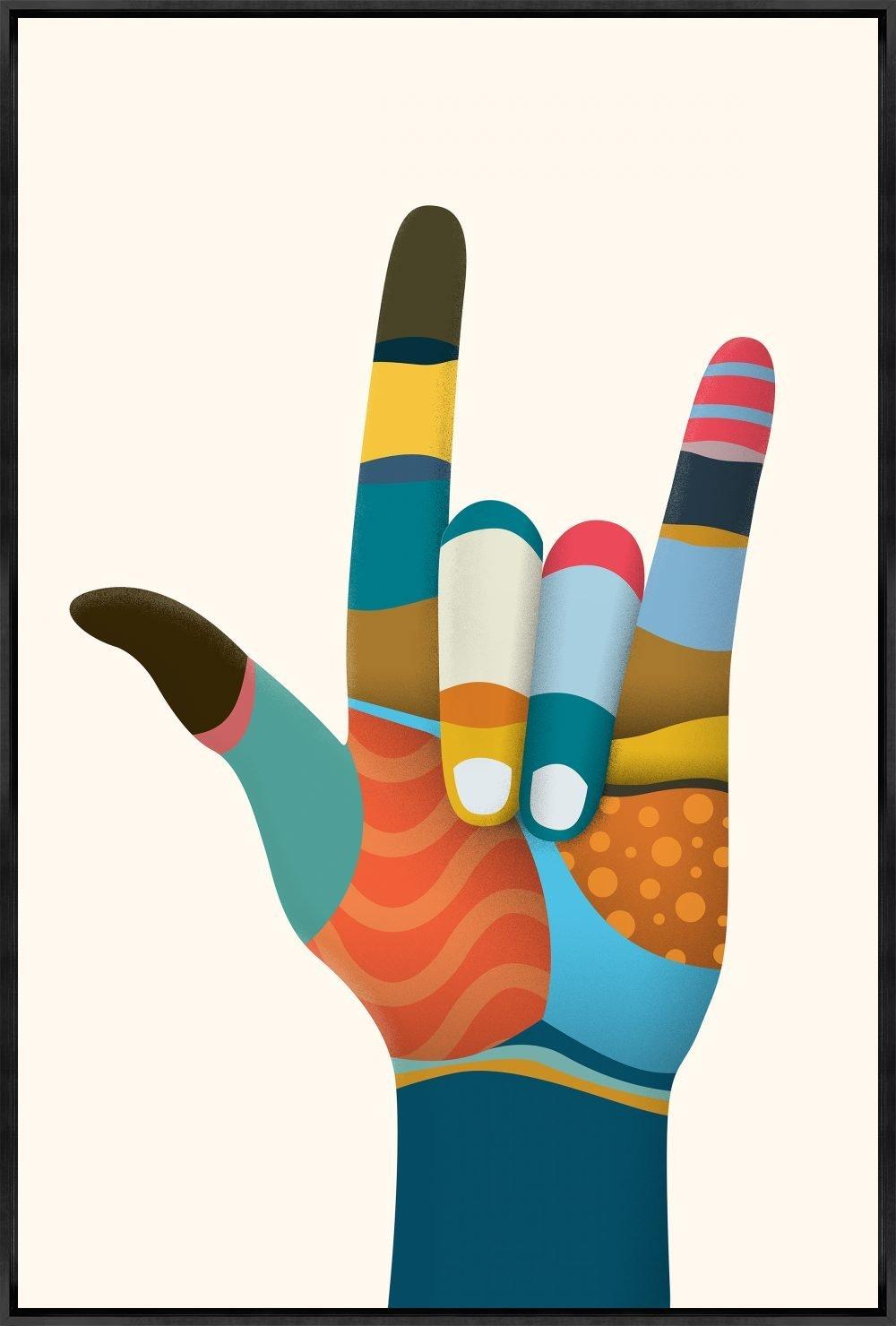 Hand Symbols I by Richard Silver