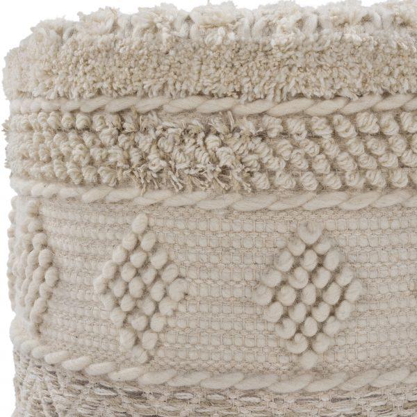 Hand-woven Hilna Floor Pouf