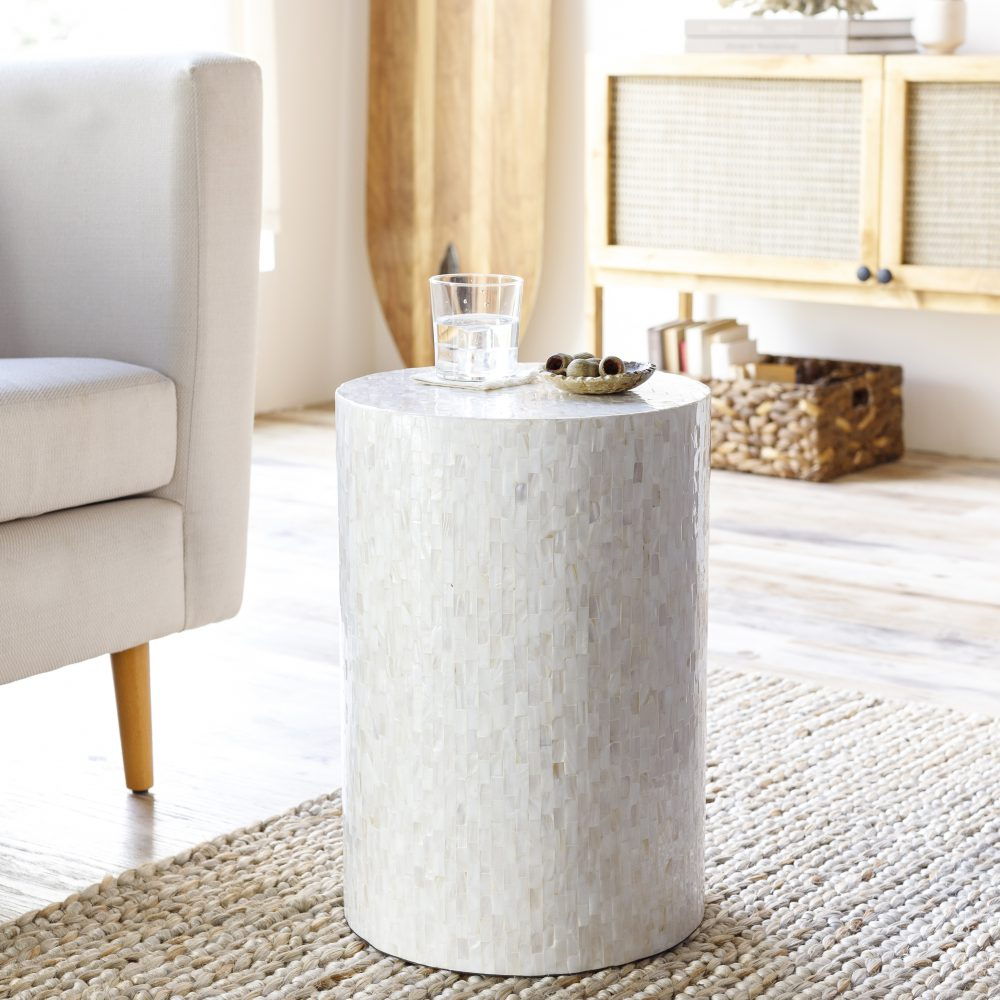 Iridescent End Table