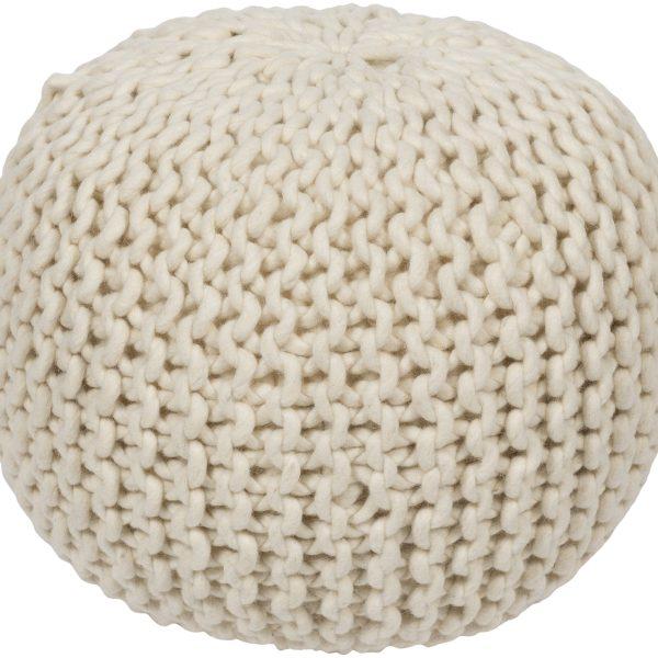 DeSoto Wool Pouf
